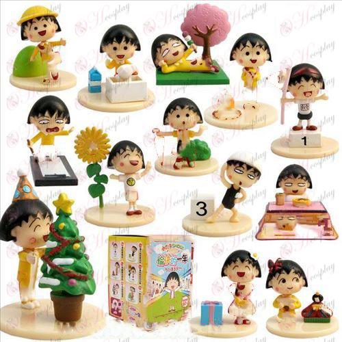 チ 0 ト 2Maruko glückliches Jahr (13 Modelle) 4cm