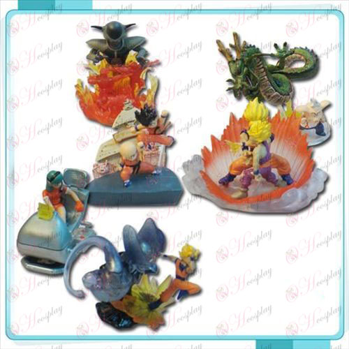Genuine 6 Dragon Ball Accesorios montados muñeca