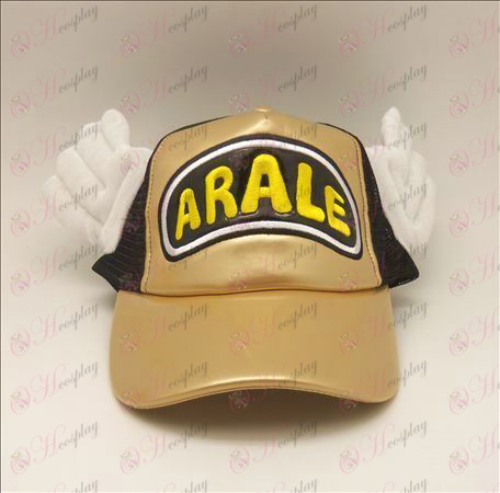 D Ala Lei hat (gold - black)