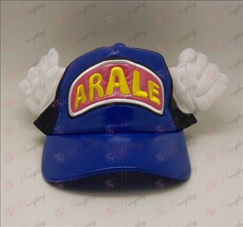 D Ala Lei chapéu (azul - rosa)