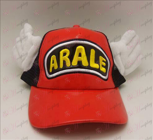 D Ala Lei hat (red - black)