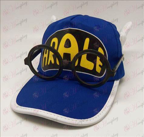 Ala Lei hat + briller (blå)