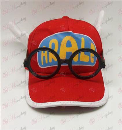 עלא ליי כובע + משקפיים (אדום)