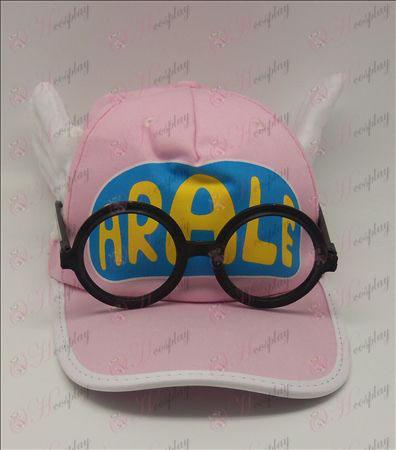 Ala Lei hat + briller (lyserød)