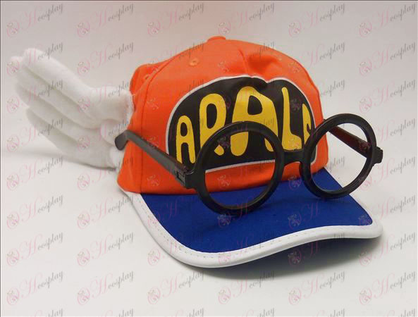 Ala Lei hat + briller (oransje)