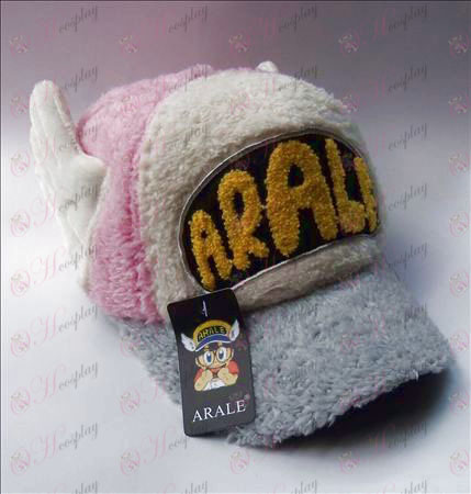 Ala pluche hoed (roze)