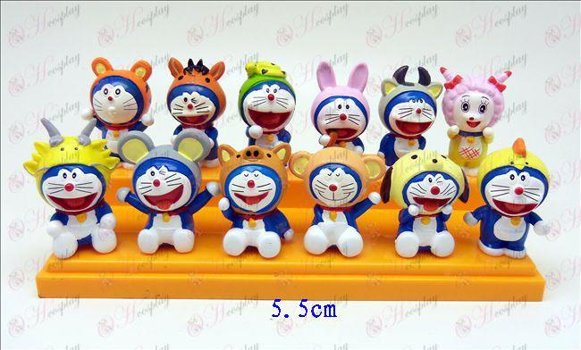 12 Zodiac Doraemon dukke