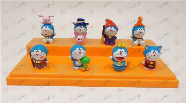 Acht Doraemon pop ornamenten
