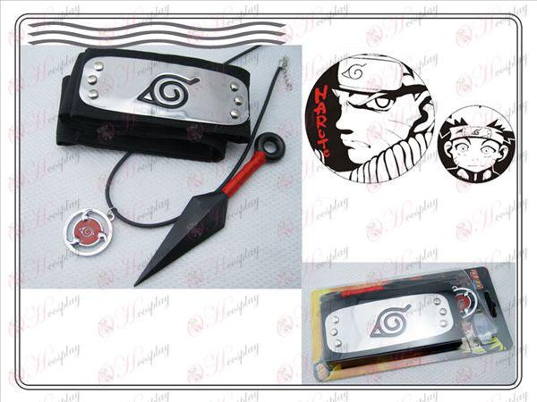 Naruto Sasuke skriva runda ögon tredelade