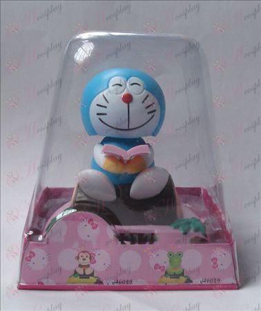 Sitt trä Doraemon Solar Tillbehör Bobblehead (box höjd 15cm)
