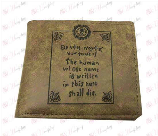 Death Note Accessoires mat portefeuille