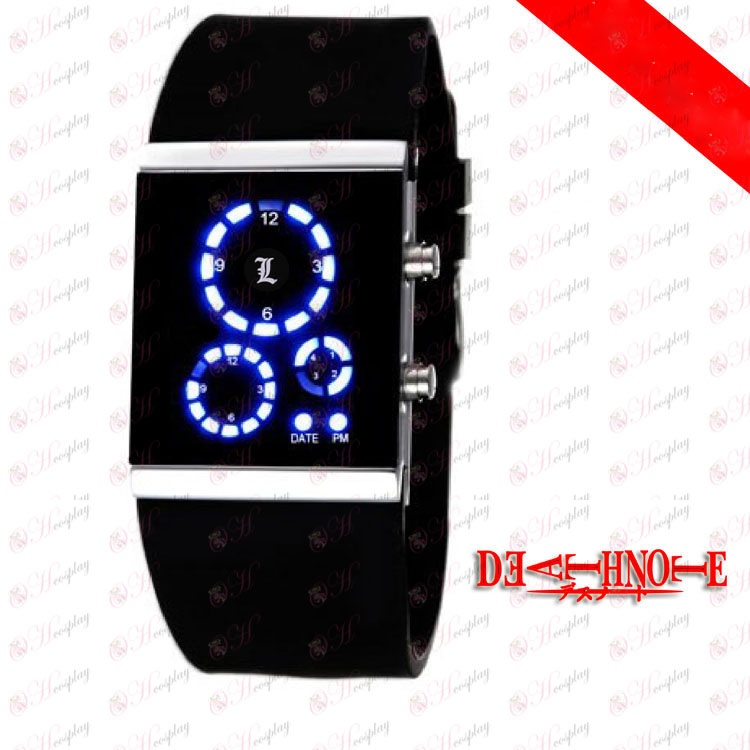 Death Note AccessoriesL Korean LED watches black flag