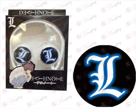 Stereo headset folding headphone-Death Note Accessories logo
