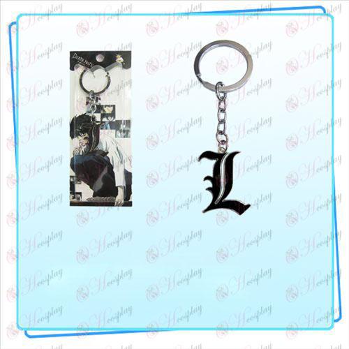 Death Note AccessoriesL Flagge Schlüsselring (schwarz)