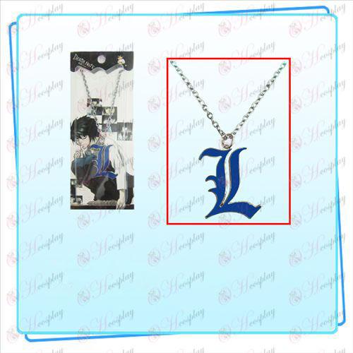 Death Note AccessoriesL знак огърлица (синьо)