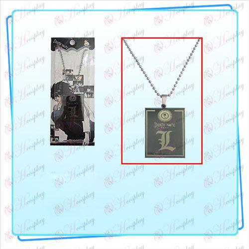 Death Note Accessoires Quadrat Tag Halskette