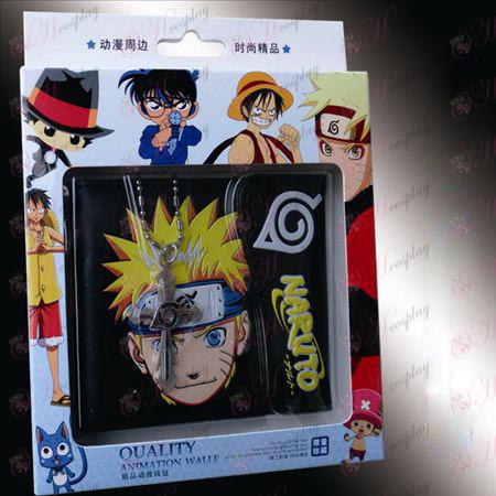 Kereszt nyaklánc együtt töltött pénztárca - a nagy részét Naruto