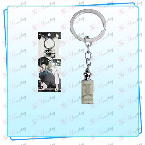 Death Note AccessoriesL logo chiave pesi anello