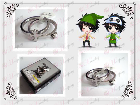 Death Note Accessories Cross stainless steel couple rings