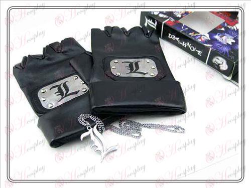 Death Note KiegészítőkL bőrkesztyű + L nyaklánc (három darab)