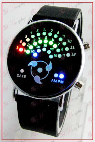Красочные корейских Вентилятор светодиодные часы - пишите круглые глаза