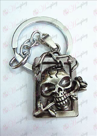 Death Note Accessories party licensing dimensional skull headband diamond key ring (ancient silver