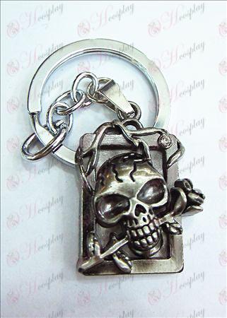 Death Note Tilbehør party licens dimensionelle kraniet pandebånd diamant nøgle ring (antikke sølv