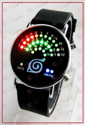 Красочные корейских Вентилятор светодиодные часы - Коноха