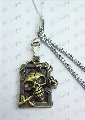 Death Note Accessories party licensing dimensional skull headband drill Strap (bronze)