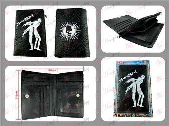 Death Note Acessórios longo zipper carteira relevo