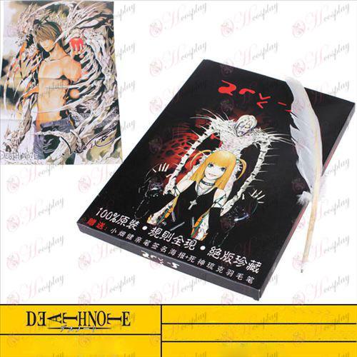 Death Note cuaderno grande hembra Accesorios de calidad además de la pluma