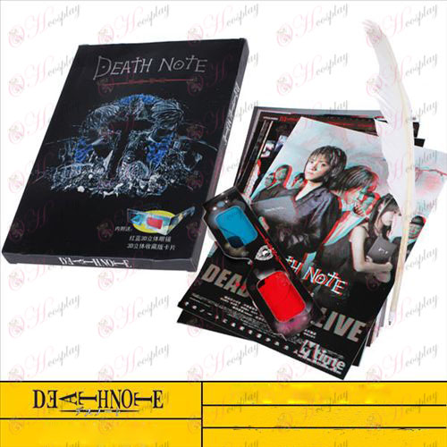 Death Note Accessories Laptop high quality 3D glasses eight postcards plus quill