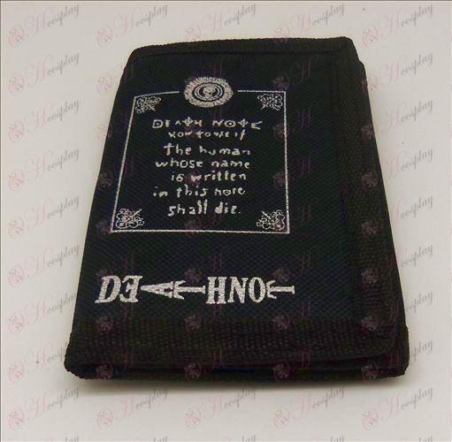 Canvas lommebok (Death Note Tilbehør Tekst 1)