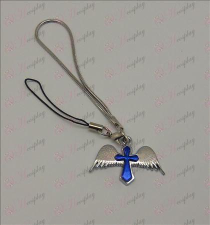 הערה אבזרים אנג\'ל רצועת צלב מות שלפוחית (כחול)