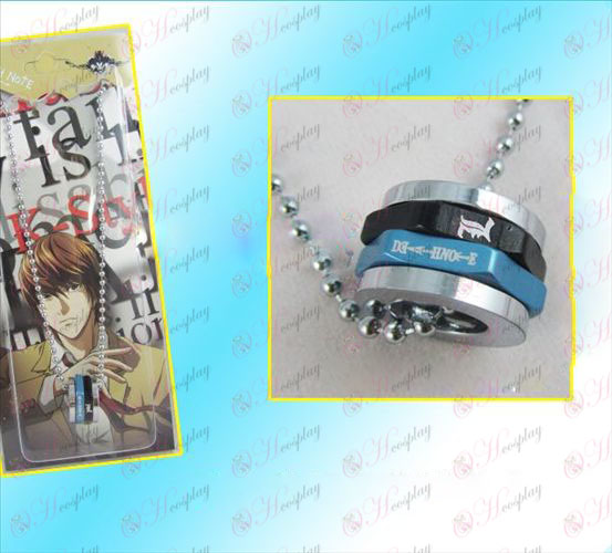 Death Note Accessories necklace black hexagon rotation