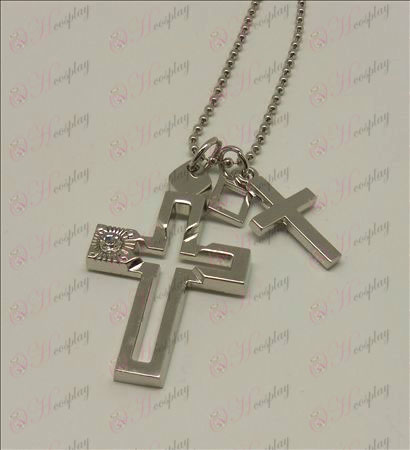 Death Note Accessories Double Cross Necklace