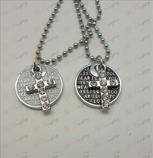 Death Note Zubehör Cross Disc Paar (mit Diamant) Halskette (box)