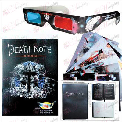 Death Note Accessories postcard present +8 +3 glasses 3D sheets