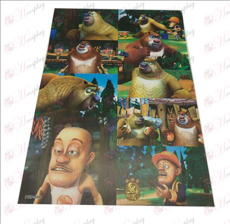 42 * 29cm Bear Comes embossed posters (8 / set)