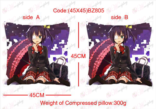 (45X45) BZ805-in two-sided disease also love anime square pillow