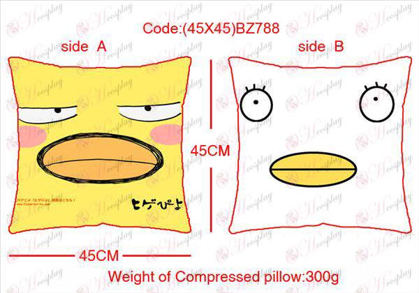 (45X45) BZ788 cara cuadrada pollo de dibujos animados almohada t-