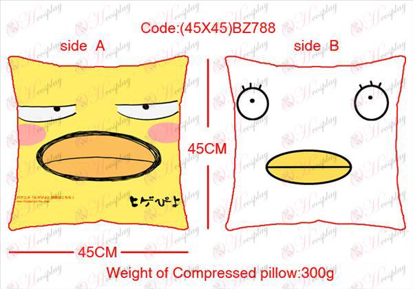 (45x45) עוף קריקטורה כרית מרובע BZ788 צדדי T-