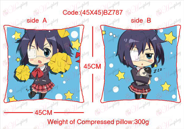 (45X45) BZ787-in two-sided disease also love anime square pillow