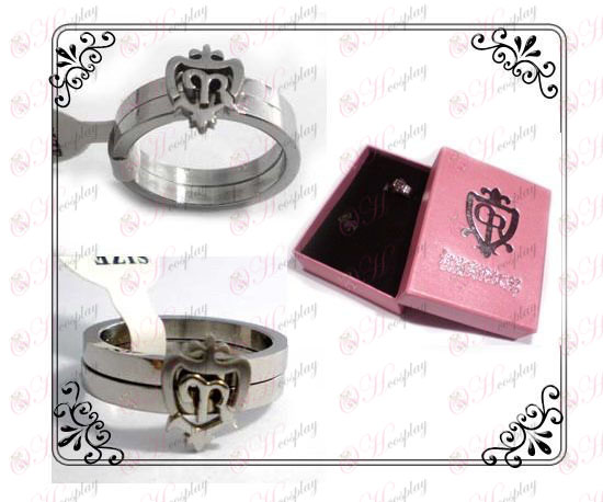 Ouran college couple rings (stainless steel)