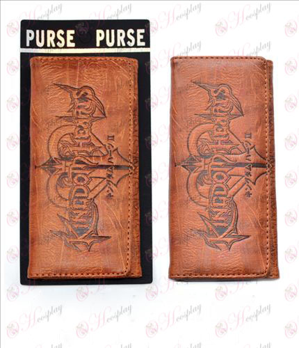 Long fold wallet embossed leather (K Accessoriesingdom Hearts Accessories)