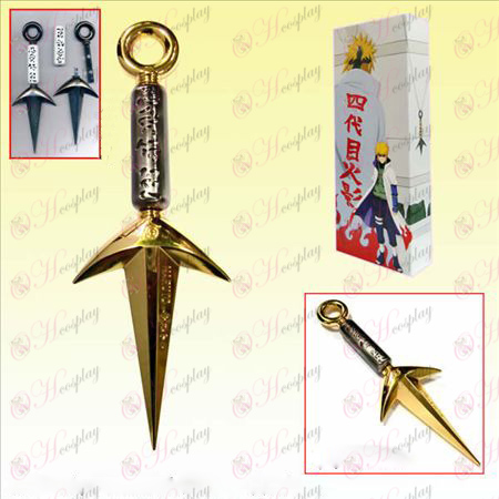 Naruto Shuriken boxed four generations present weapons (Gold)