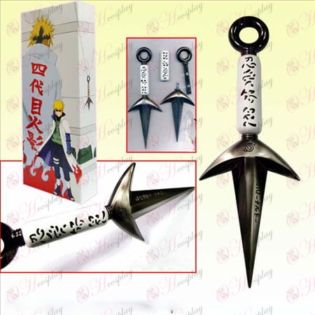 Naruto Shuriken boxed four generations present weapons (white)