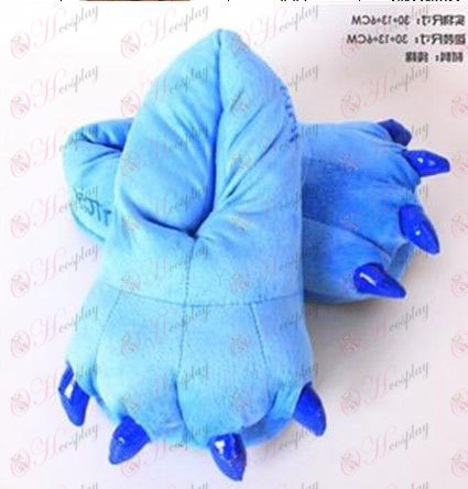 Gloomy plush blue slippers Halloween Accessories Online Store