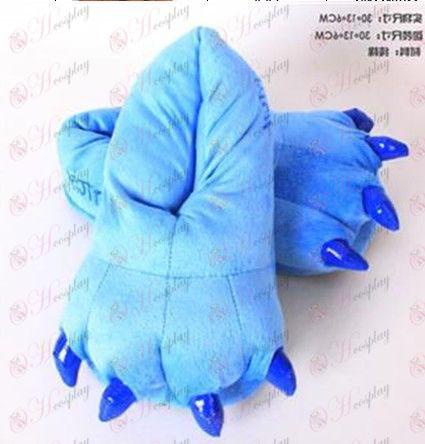 נעלי קטיפה כחולות קודרות