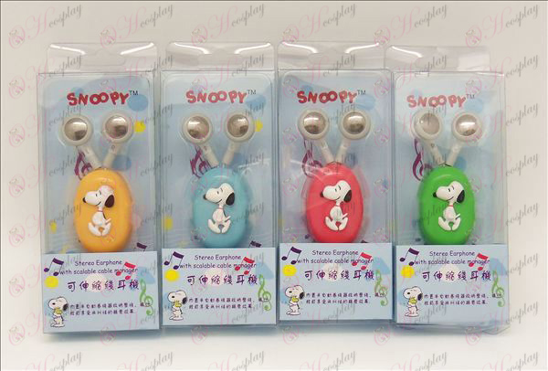 Snoopy retractable headphones